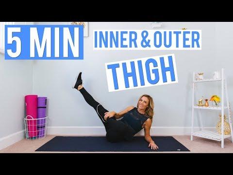 허벅지 안쪽 바깥쪽 5분 운동