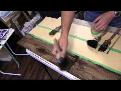 How to paint a Faux wood Floor Tutorial