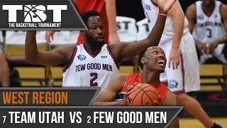 In a game that came down to the wire, Few Good Men got past Team Utah, 85-83. Steven Gray led all scorers with 33 points on...