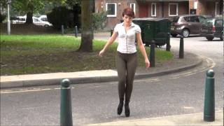 Walking In Ballet Boots On Stairs