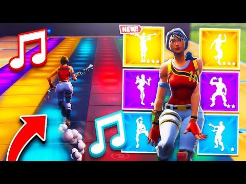 Videos musicales - Il reproduit les danses fortnite avec les notes musicales en créatif !