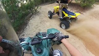 4. 2012 Suzuki ltz400 LE Limited Edition + 2010 Suzuki QuadSport LTZ 400 yellow | ATV Quad Bike riding