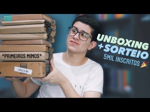 UNBOXING   Livros mais desejados e Primeiros recebidos + SORTEIO!