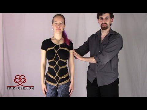 Beginner | Rope Bondage Tutorial: Karada Hishi (Diamond) Pattern (видео)