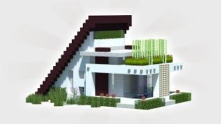 Minecraft: How To Build A Small & Easy Modern House Tutorial (Casa Moda)