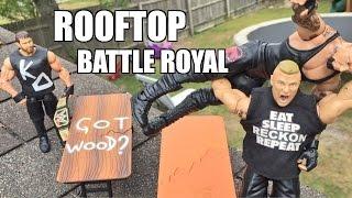 GTS WRESTLING: ROOF TOP RUMBLE! WWE Mattel Elite Figure Matche...