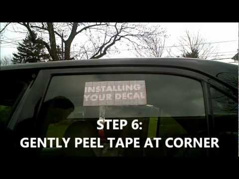 Steps on how to install your vinyl decal on car window JDM