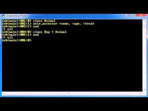 Ruby Programming Tutorial - 6 - Inheritance