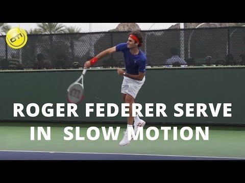 come effettuare il servizio: il servizio di federer in slow motion