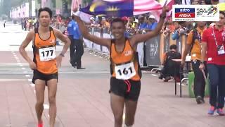 Pingat gangsa untuk Muhaizar Mohamad dalam acara Maraton, menamatkan penantian negara dalam tempoh 44 tahun -- sejak...