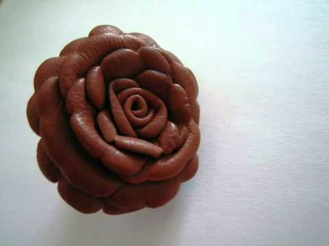 Tutorial for a leather flower broche.