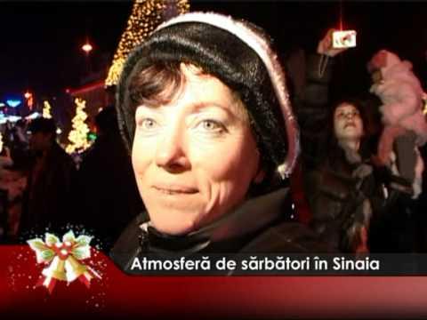 Atmosferă de sărbătoare în Sinaia