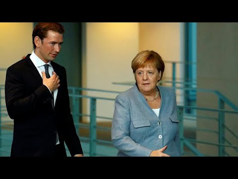 Merkel und Kurz wollen mehr Grenzschutz: Seltene Ei ...