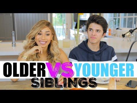 Older Siblings VS Younger Siblings (w/ MyLifeAsEva) | Brent Rivera