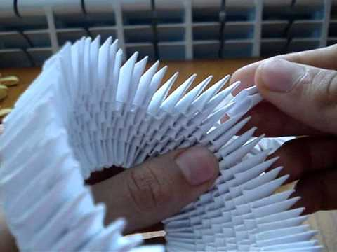 How to make a 3D Origami Swan #1