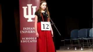 """On February 23, 2013, the IU School of Education and IU School of Journalism again co-sponsored the """"IU Bee,"""" a spelling bee..."""