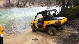 4. Can-am commander 800 river crossing
