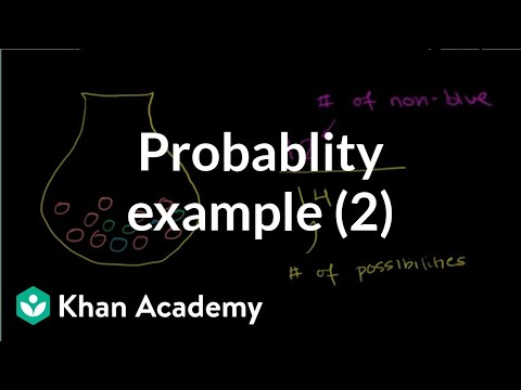 simple probability nonblue marble video khan academy