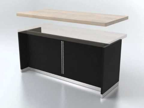 Wooden Display Counter for 3C store