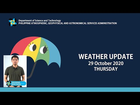 Public Weather Forecast Issued at 4:00 AM October 29, 2020