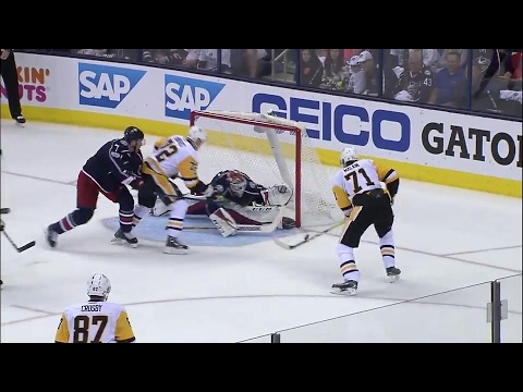 Video: Bobrovsky gets a pad down to stop Malkin's multiple chances