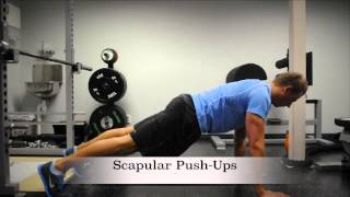 Exercise Index: Scapular Push-Ups