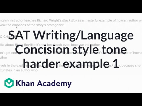 Writing Concision Style And Tone Harder Example 1 Video