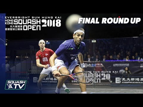 Squash: ElShorbagy v Farag - Men's Final Roundup - Hong Kong Open 2018