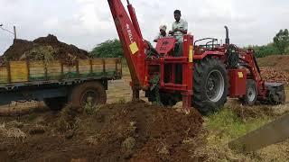 Saptha Giri MF 9500 tractor JCB