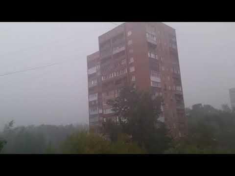 Сильный ливень в Москве 15.08.2018 САО видео