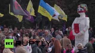 У здания Рады в Киеве проходят митинги «финансового майдана» и матерей пленных украинских солдат