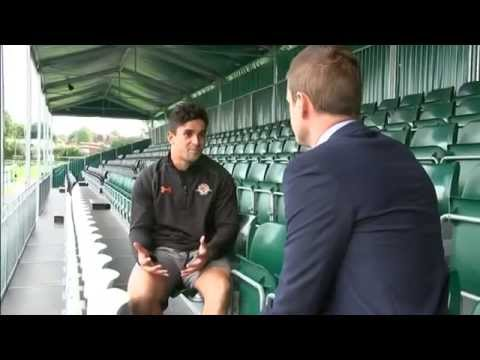 Gay rugby player Sam Stanley on ITV News London