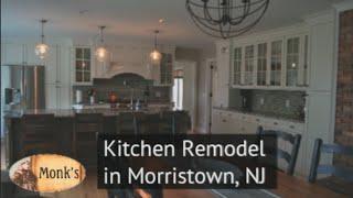 Kitchen Remodel in New Jersey - Open Plan Kitchen, New Cabinets, Hardwood Floors, Countertops