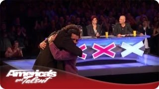 Howard Hugs Simply Sergio During His Audition - America's Got Talent Season 7