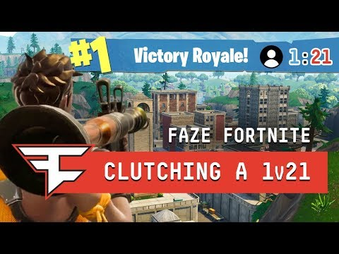 CLUTCHING A 1v21 IN TILTED TOWERS?! - Fortnite: Battle Royale (видео)