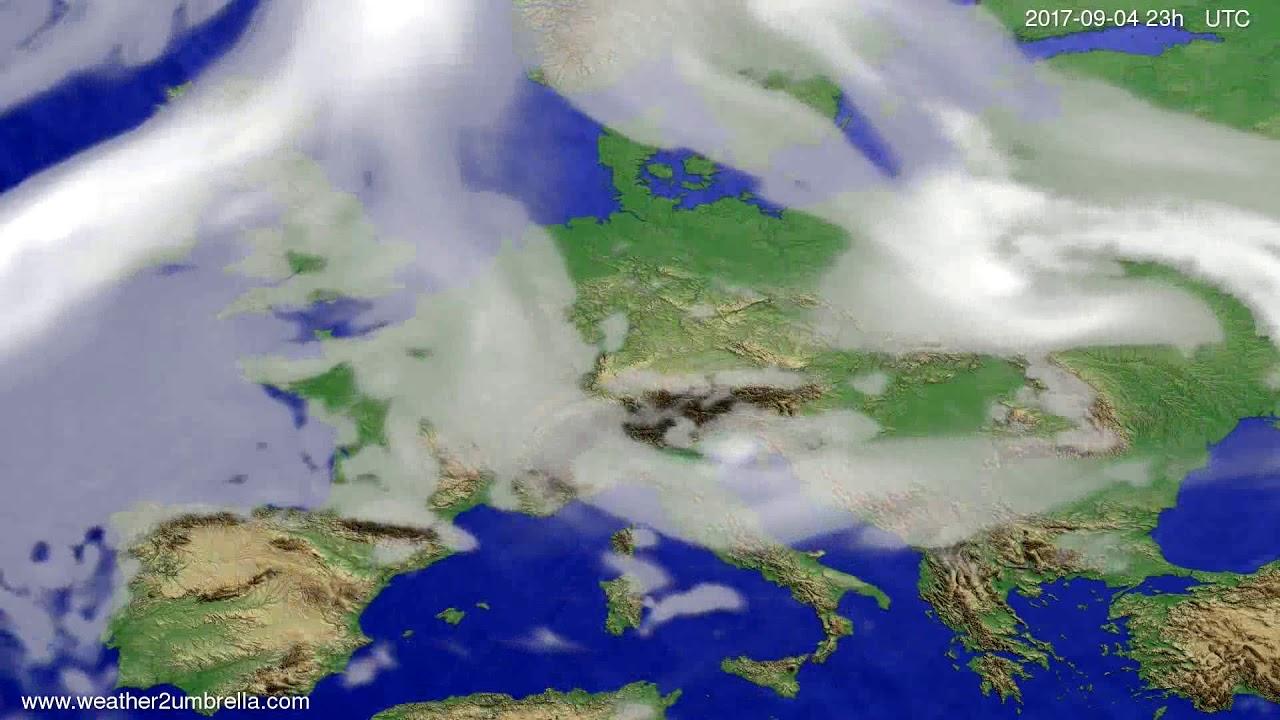 Cloud forecast Europe 2017-09-01