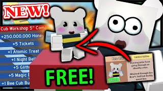 How To Get *FREE* BEE BEAR Cub Buddy - FINAL Quest Complete Rewards | Roblox Bee Swarm Simulator