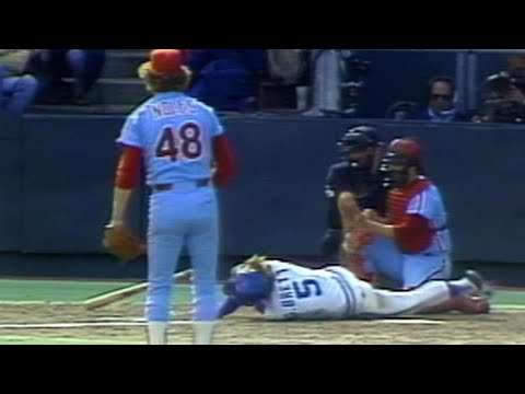 Video: Noles throws high and inside to Brett in 1980 WS Gm4