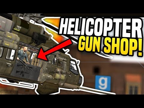 HELICOPTER GUN SHOP - Gmod DarkRP | Selling Guns From The Sky! (видео)