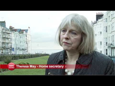 Home Secretary Theresa May visits Brighton's Aids memorial