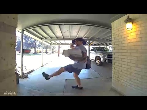 Postal Worker Dances While Delivering Mail