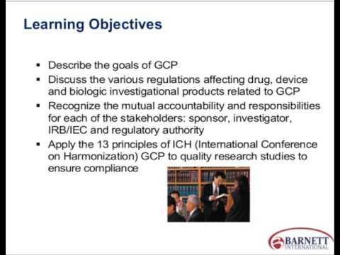 ABCs of GCP and the 13 Principles of ICH GCP E6 Trailer