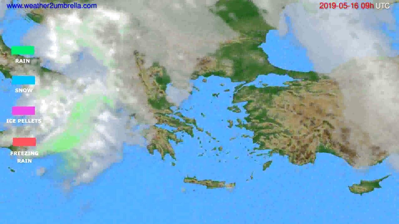 Precipitation forecast Greece // modelrun: 00h UTC 2019-05-14
