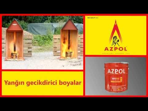 Azpol anti fire və yol cizgi boyası