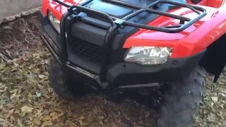 1. Vid #1 '16 Honda Rancher 4x4 DCT EPS - Brand new! Show and tell.