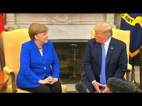 Heikle Themen im Weißen Haus: Merkel und Trump um Har ...