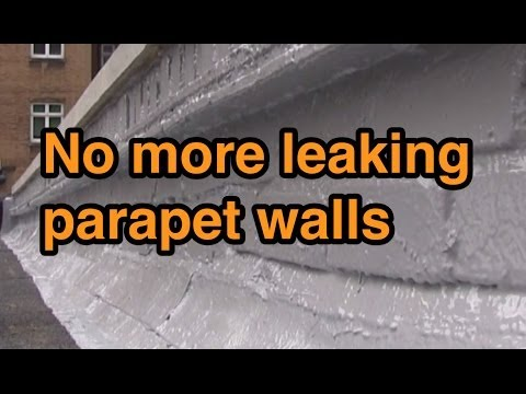 Leaking Parapet Walls with New Coping Stones Using Mariseal 250