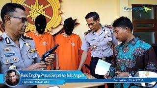 Polisi Tangkap Pencuri Senjata Api Milik Anggota