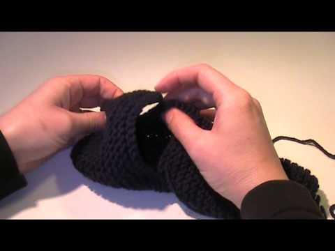 Bandajen Hausschuh stricken