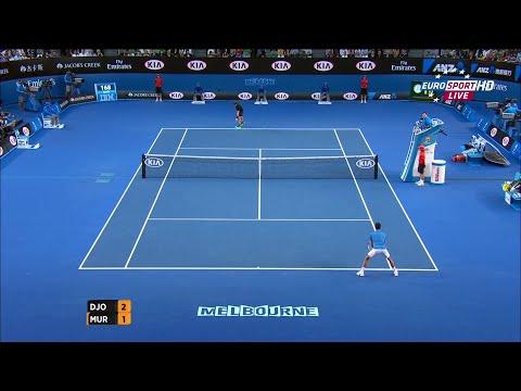australian open - novak djokovic vs andy murray highlights & match point